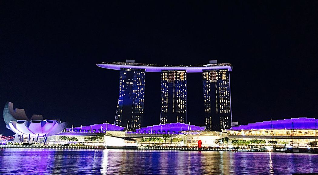 Singapore Night Architecture Water Built Structure Illuminated Building Exterior Nature Outdoors Reflection Sky No People Travel Destinations Waterfront City River Travel Lighting Equipment Tourism Hotel Luxury