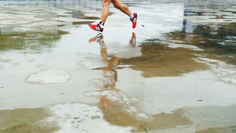 Wet Floor Runnersworld Redshoes Color Photography Sports Photography EyeEm Gallery Rany Day