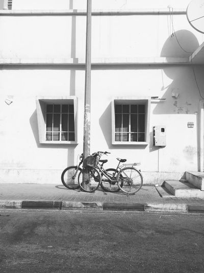 Architecture Bicycle Built Structure Day Land Vehicle Outdoors Simplicity Transportation Vintage Window