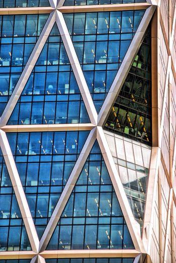 Building in New York Manhattan Urban Geometry