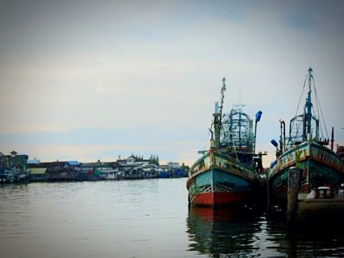 Fishingboat Thailand Culture Awesome! Early In The Morning Colorful