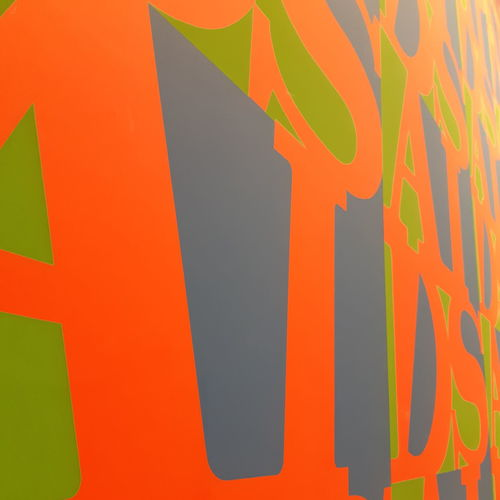 moma in Paris Fondation Louis Vuitton  Louisvuitton Aidswall Moma Momainparis Art Modernart Multi Colored Backgrounds Full Frame Abstract Orange Color Close-up Architecture Built Structure Capital Letter Written