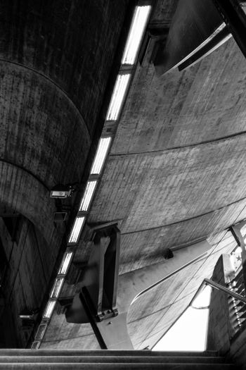 Stadelhofen/Calatrava Linsen über Zürich Train Station Architectural Feature Calatrava Concrete Blackandwhite Monochrome Corridor Urban City Life Spiral Staircase City Steps And Staircases Steps Staircase Curve Architecture Built Structure Hand Rail Stairway Architectural Design Architecture And Art Platform Ceiling Light  The Architect - 2019 EyeEm Awards