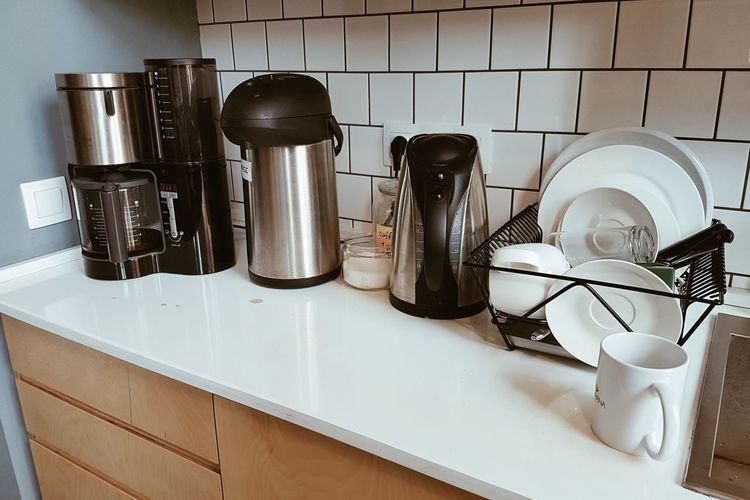 Coffee dot Indoors  Domestic Kitchen Kitchen Kitchen Counter Preparation  No People Neat Domestic Room Cooking Utensil Hygiene Close-up Day