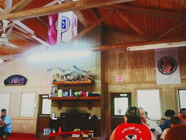 Camp Sidney Dew Camping Mess Hall Banners Badges Cub Scouts Adventure Camp Stuffed Animals Taxidermy