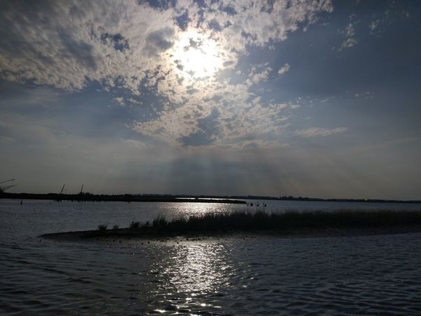 Water Sunbeam Reflection Nature Sea Sun Cloud - Sky Sky No People Landscape Sunset Outdoors Beauty Beauty In Nature Horizon Over Water Day UnderSea