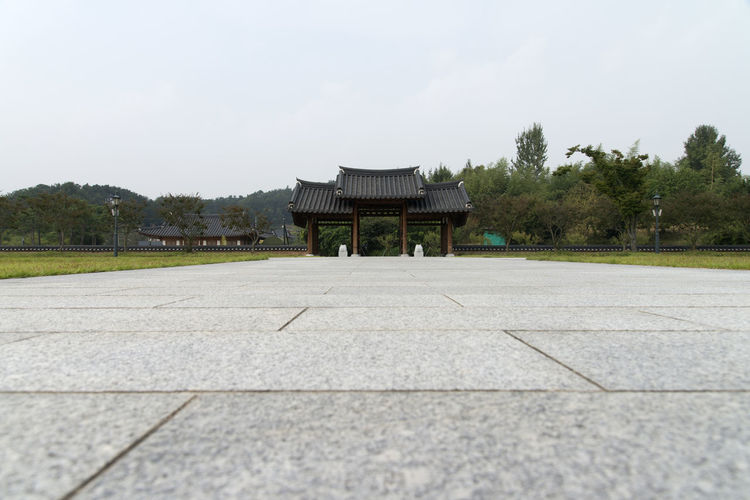 Juknokwon, the famous bamboo park in Damyang, Jeonnam, South Korea Damyang Juknokwon Architecture Building Exterior Built Structure Clear Sky Day Grass Nature No People Outdoors Sky Travel Destinations Tree
