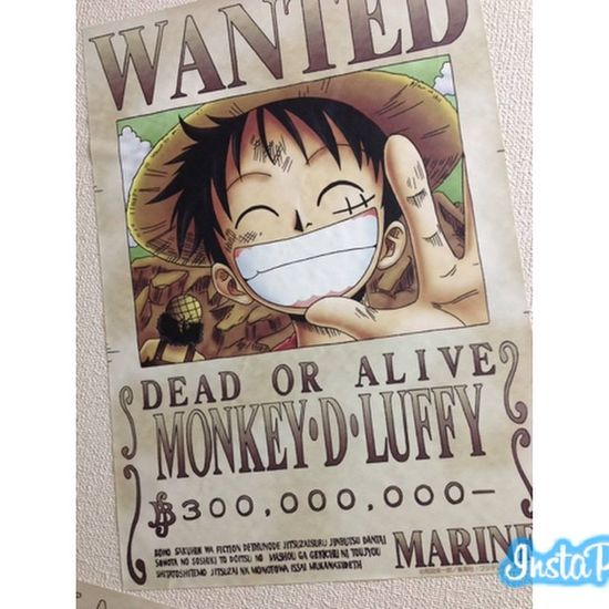 Luffy One_piece 300millionberries Bounty