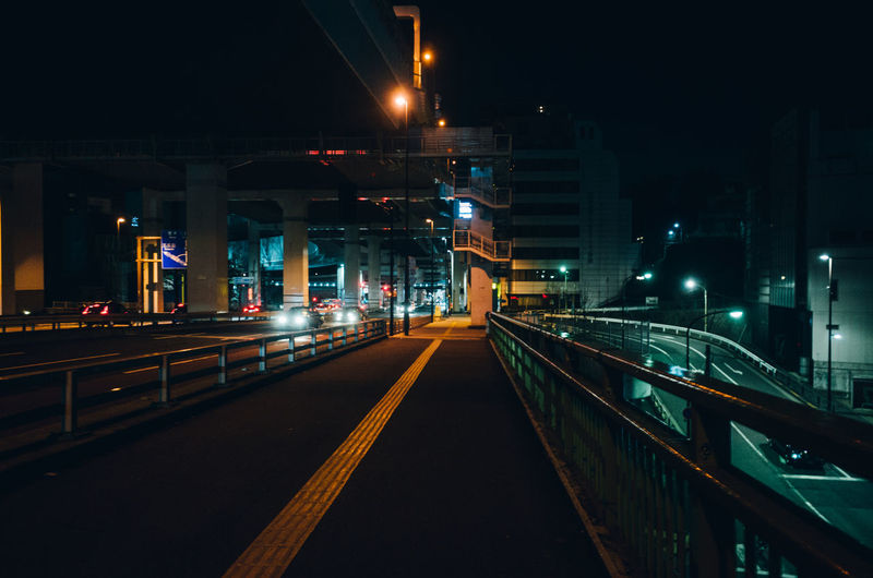 Dark Darkness Road Urban Exploration Architecture Bridge - Man Made Structure Building Exterior Built Structure City Connection Illuminated Midnight Night Nightlife No People Outdoors Road Sky Street The Way Forward Transportation HUAWEI Photo Award: After Dark