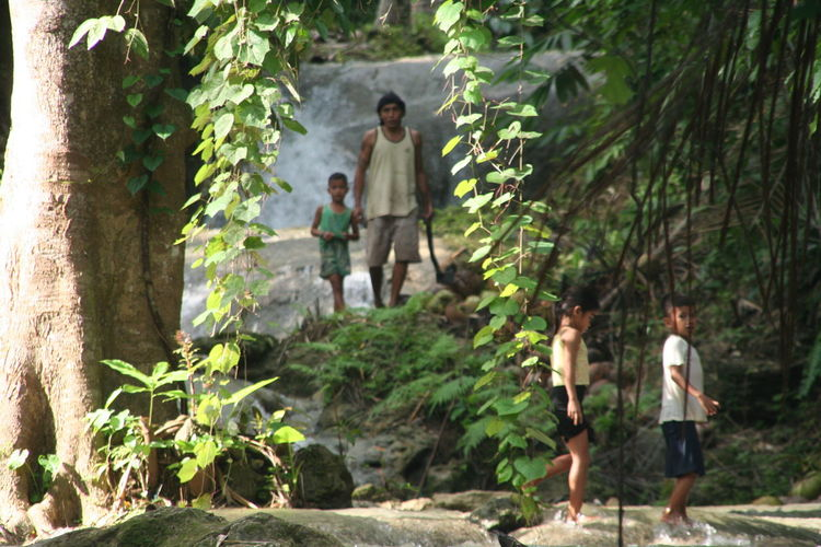 Harmony With Nature Locals Nature Outdoors Real People Siquijor, Philippines Togetherness Waterfall