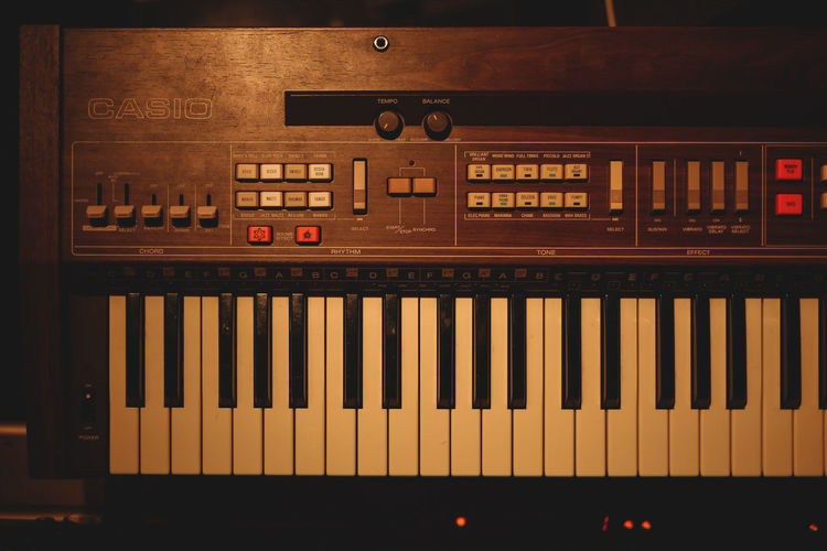 Vintage Keys - Music Piano Retro Casio Close-up Day Illuminated Indoors  Keyboard Music Musical Instrument No People Vintage Cars