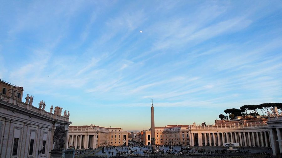 View of st peter's square in rome, italy