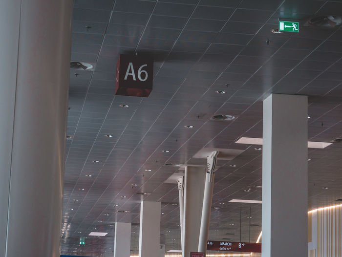 Terminal Burchardkai Airport Airport Departure Area Airport Waiting Airportphotography Architectural Column Architecture Arrow Symbol Built Structure Ceiling Communication Glass - Material Guidance Illuminated Indoors  Information Interior Interior Design Low Angle View No People Number Sign Text Transparent Window