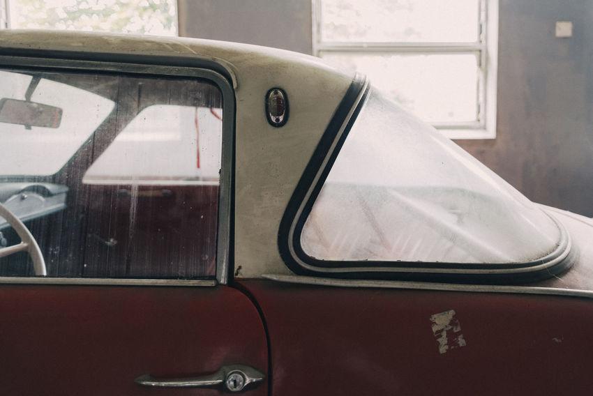 Abandoned Car Close-up Day Driving Dust Goggo Goggomobil Indoors  Land Vehicle Mode Of Transport No People Oldtimer Oldtimers Transportation Window Windows