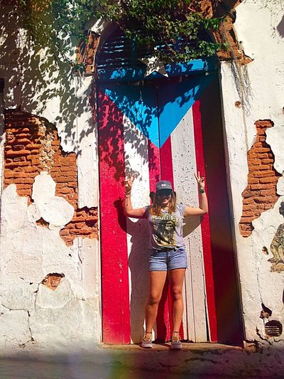 Taking Photos San Juan Puerto Rico Old San Juan Flag Puertoricotourism