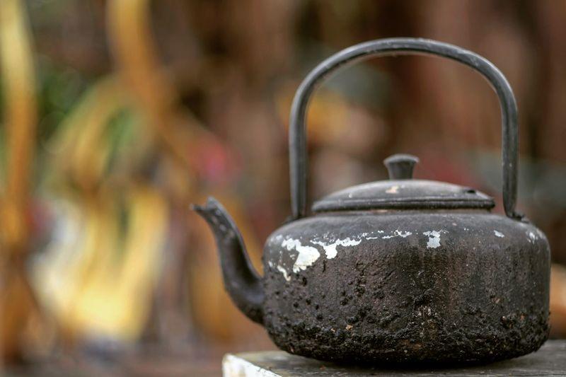 Close-Up Of Old Teapot