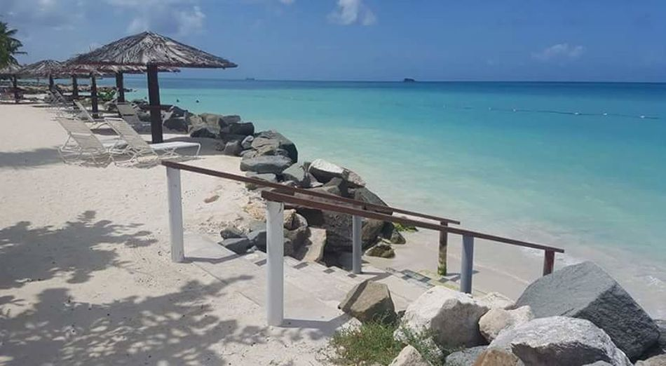 Sea Beach Sand Water Summer Vacations Tropical Climate Sky Relaxation Tranquility Beauty In Nature Nature Clear Sky No People Day Outdoors EyeEmNewHere Travel Destinations Travel Vacations Antigua And Barbuda The Week On EyeEm