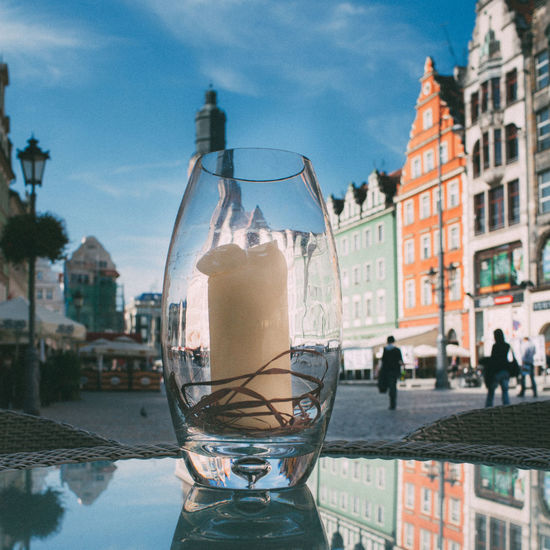 Candle and City Architecture Building Exterior Candle City Outdoors Reflection Relaxing Moments Restraunt Travel