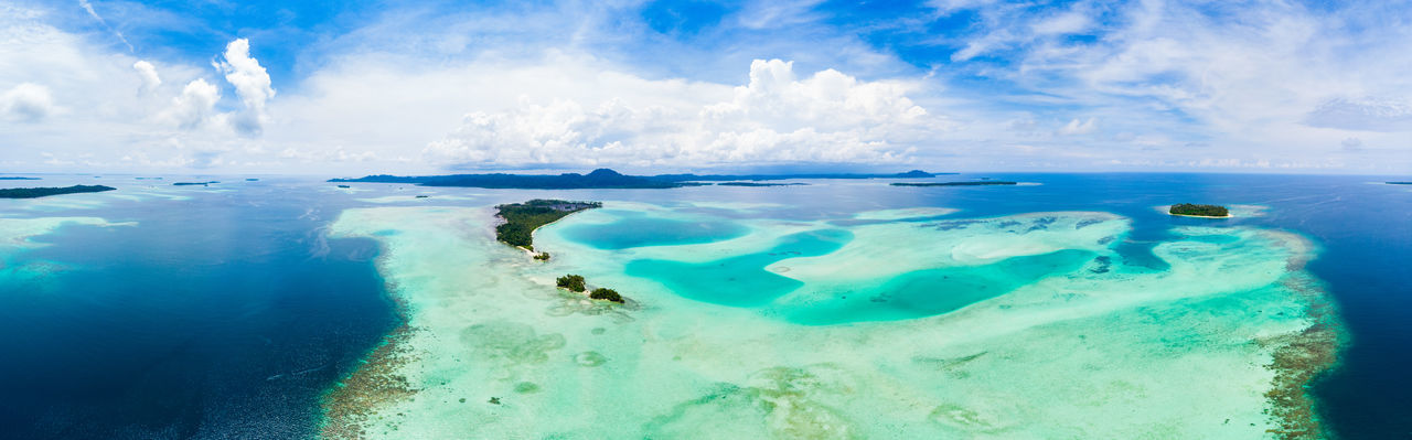 Water Sea Cloud - Sky Sky Blue Scenics - Nature Nature Day Turquoise Colored Beauty In Nature No People Outdoors Underwater Land Tranquility Travel Destinations Motion Tranquil Scene Panoramic Swimming Pool Horizon Over Water Lagoon