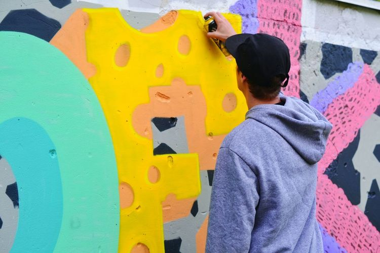 Guy Boy Move Painting Paint Abstract Nick Art, Drawing, Creativity Art Graffiti Graffiti Art ArtWork Summertime Outdoor Outdoors Youth Of Today Colorful Modern Modern Art Street Art Showcase July Ivano-frankivsk Lighter & Brighter Casual Clothing