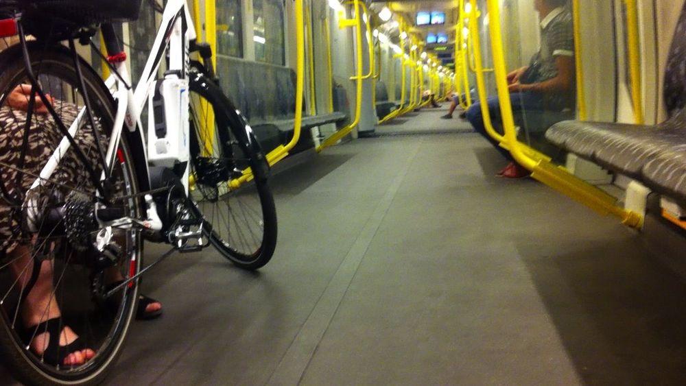 Berlin Berliner Bike On Train Cycle On Train Deutschland Germany Me U-Bahn Capture Berlin