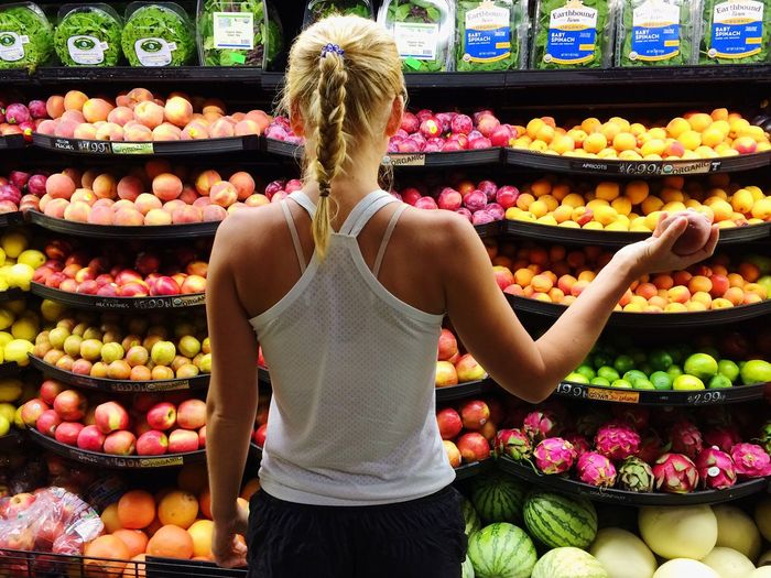 Healthy choices Healthy Eating Fruit Choice Retail  Freshness Abundance Market Food And Drink Customer  Healthy Lifestyle Rear View Supermarket Frutarian Diet