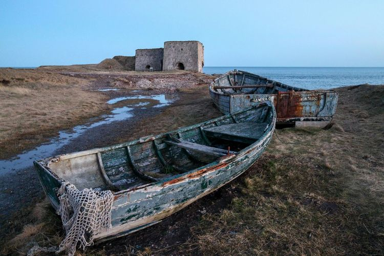 Poddin Point Boat Wreck Rustic Beautiful Seascape Coastline Angus Scotland Eyem Best Shots