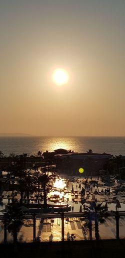 Sun set Water