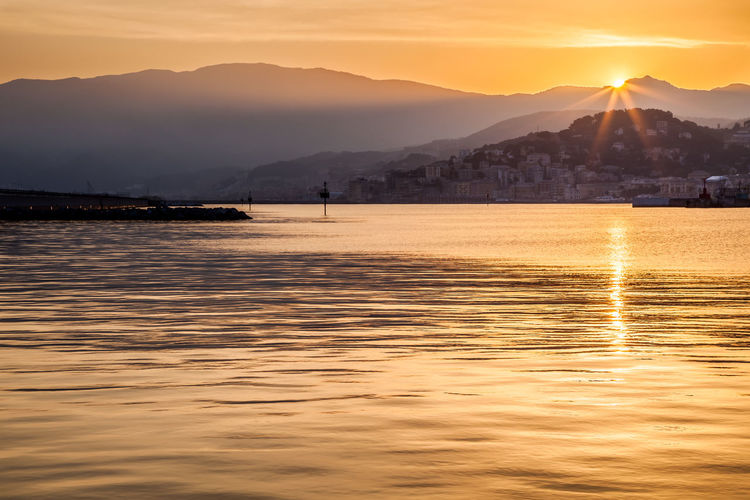 Sunset in Genoa