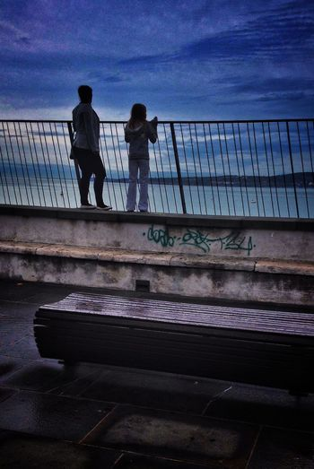 Port Of Koper People Watching IPhoneography Sea And Sky Sky And Clouds dull day Streetphotography