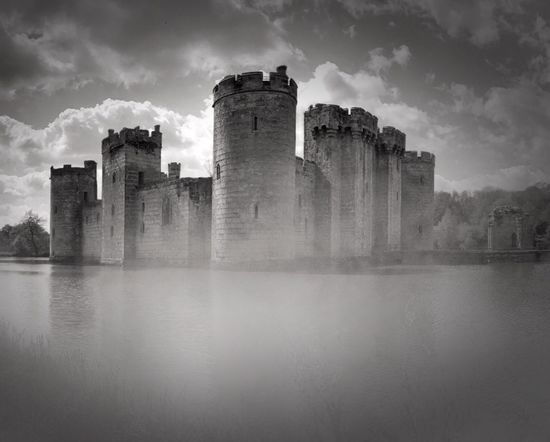 Architecture Sky History Reflection Water Cloud - Sky Mist National Trust Bodiam Castle National Trust 🇬🇧 Medieval Castle Moated Castle English History IPhoneography Old Ruin Castle No People Misty Mono Monochrome Blackandwhite Black And White Blackandwhite Photography Eerie Eerie Beautiful