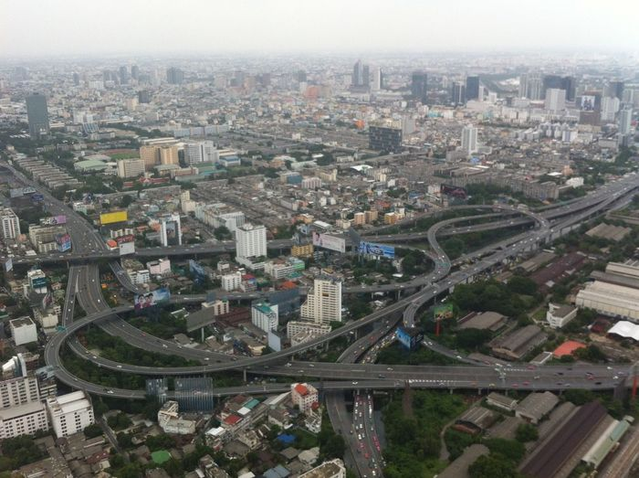 Flying High Bangkok Bangkok Thailand High Angle View Aerial View Transportation No People City City View  City Life Highway Daylight Cityscape Real Photography Architecture Sky
