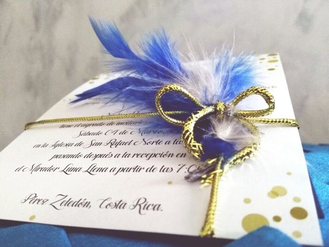 Wedding invitation. Postcard Day Text Blue Close-up No People Communication Flower Outdoors First Eyeem Photo