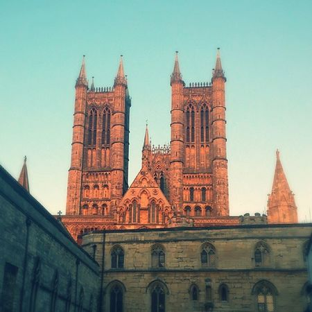 Sunset Brilliant Britain Summer cathedral lincoln church Beautiful