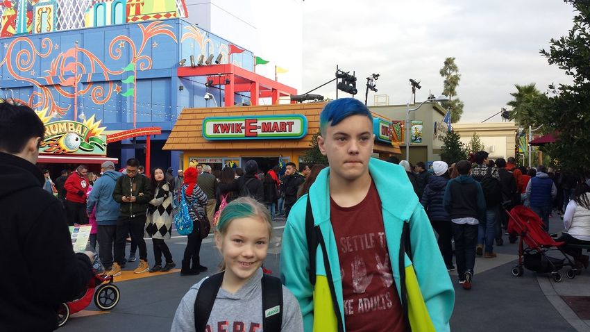 Universal Studios  Hollywood Vacation The Simpsons Springfield Kiddos My Children Brother & Sister Kwikemart