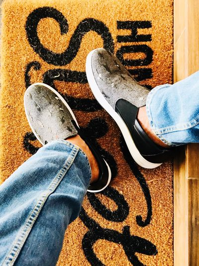 Sweet Home Ferragamo Human Body Part Low Section Body Part One Person Human Leg Personal Perspective Real People Lifestyles Shoe Men Jeans