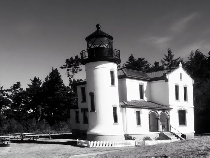 Lighthouse at Fort Casey, Coupeville, WA Architecture Built Structure Building Exterior No People Tree Outdoors Day Lighthouse Sky Nature