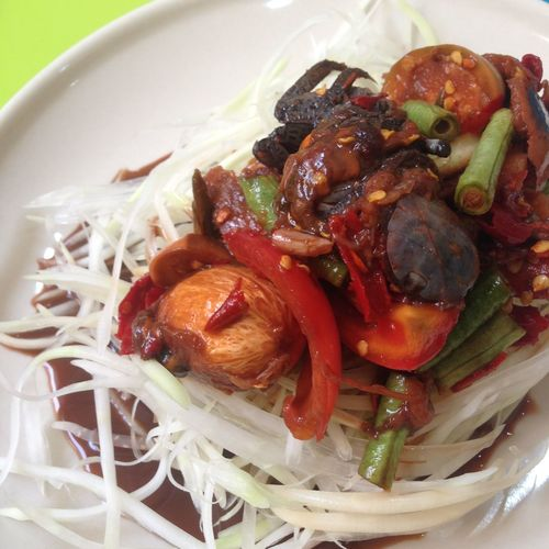 What's For Dinner? Thaidish Papaya Salad strong flavor and really good taste!