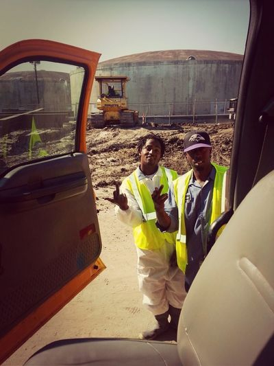 Me and my nigga Parker at work kicking it