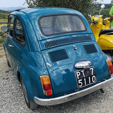 Drove this vintage Fiat 500 around Tuscany.. Land Vehicle Close-up