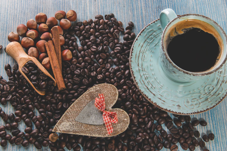Coffee Coffee Time Heartbeat Moments Love Lovely Weather Nuts Beans Of Coffee Cinnamon Coffe Beans Coffee - Drink Coffee Bean Cup Of Coffee Day Food Food And Drink Hazelnut Hazelnuts High Angle View Indoors  Love To Take Photos ❤ Lovelovelove Lovely No People Nut - Food Star Anise