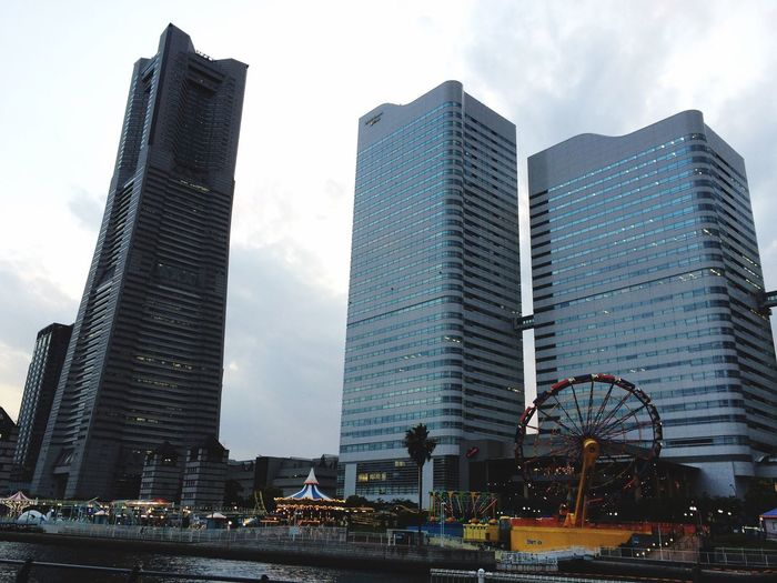 Minatomirai City Urban Building Office Building Tower City Cityscapes Built Structure Buildings Modern Architecture Modern Clouds And Sky in Yokohama , Japan