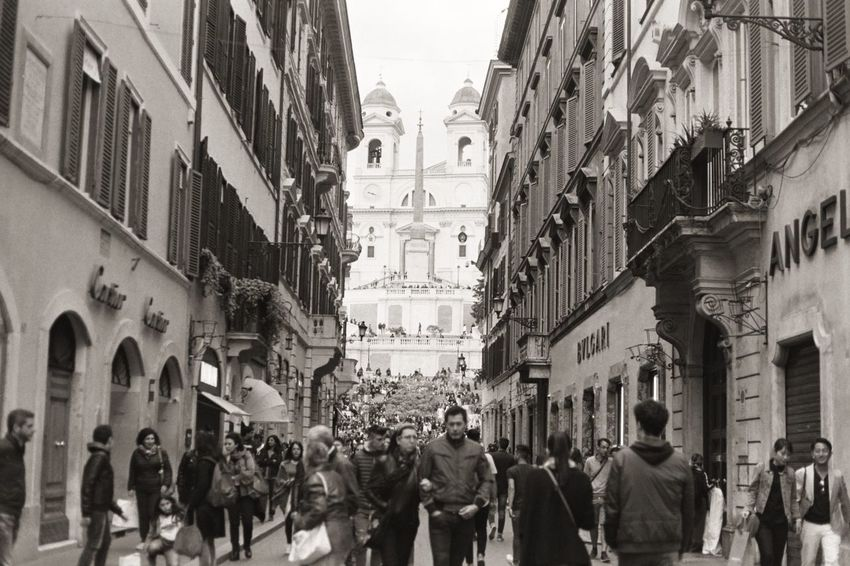 Moving Around Rome Rome Architecture Building Exterior City Crowd Crowded Space Crowded Street Italy Large Group Of People Outdoors Real People