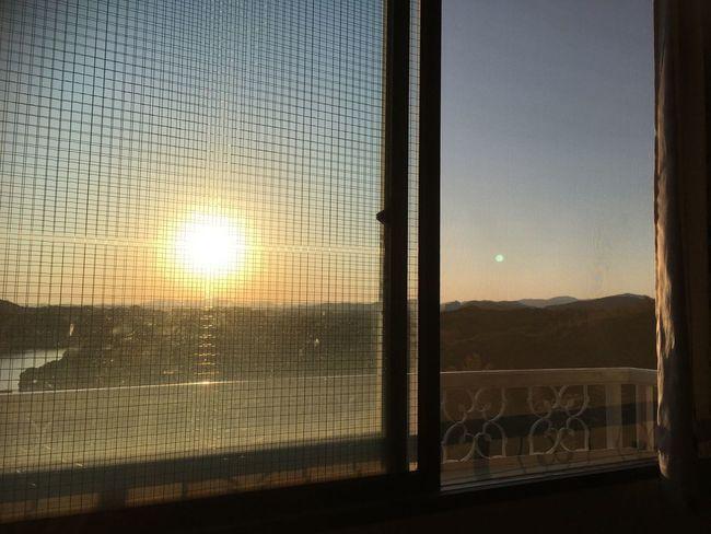 Sunset MyRoom Niceview Sky Noefect Island 島 無加工 網戸 夕陽 Tomの見た世界