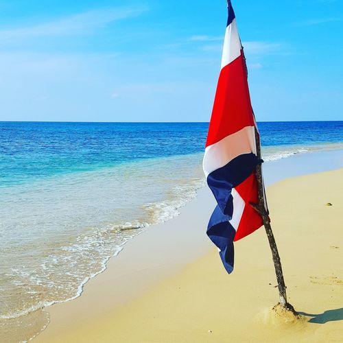 Flag Beach Sea