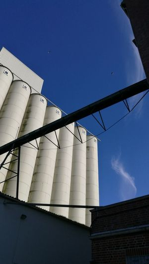 Getreidesilo Architecture Clear Sky Day Factory Getreidesilo Industry Low Angle View No People Outdoors Silo Sky