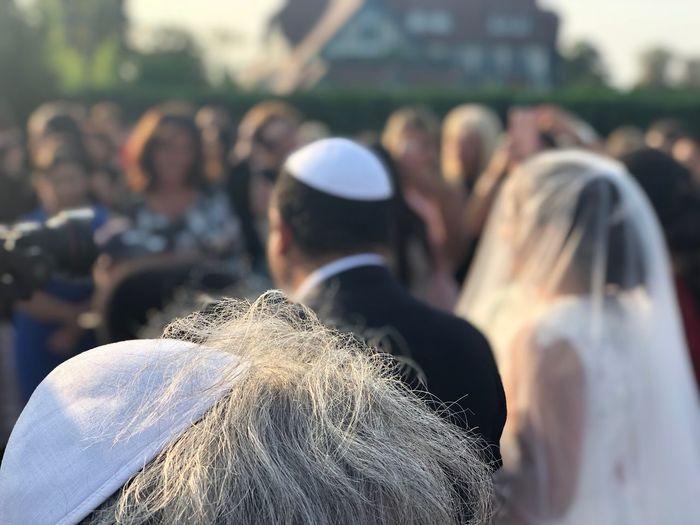 People in wedding ceremony