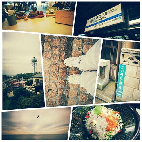 Holiday Excursion Enoshima Sea Sea View Shirasu-don Seacandle Autumn Autumn Sky