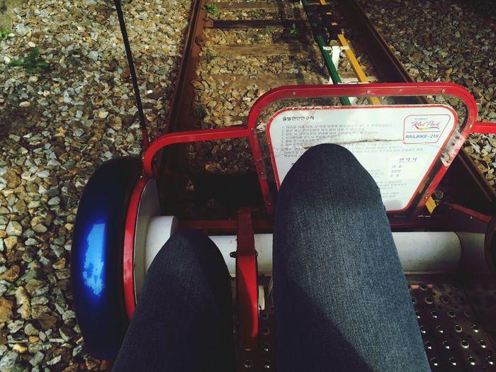 Enjoying Life Rail Bike Relaxing