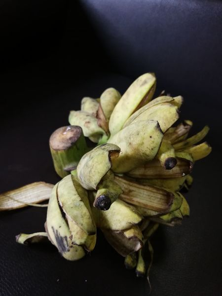 Banana Black Background Close-up Day Food Food And Drink Freshness Fruit Healthy Eating High Angle View Indoors  No People Studio Shot Table